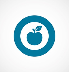 apple bold blue border circle icon vector image