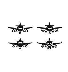 arrivals and departure plane vector image