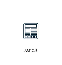 Article concept line icon simple element vector