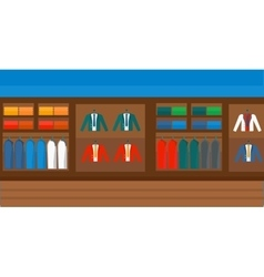 Background of clothes store vector image