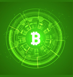 bitcoin conceptual glowing background crypto vector image