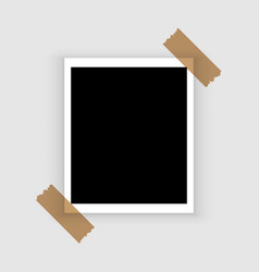 blank retro polaroid photo frame over white vector image