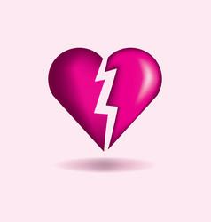 broken heart concept vector image
