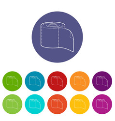 bumf icons set color vector image