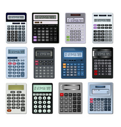 Calculator business accounting calculation vector