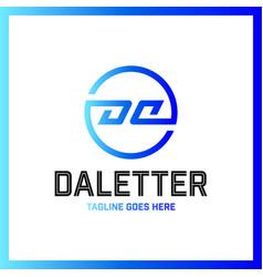 circle da company linked letter logotype luxury vector image