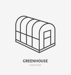 Cold frame flat line icon glass greenhouse sign vector