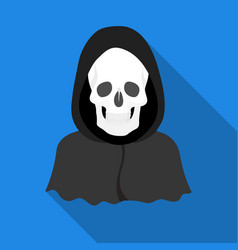 Death icon in flat style isolated on white vector
