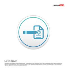 Document icon - white circle button vector