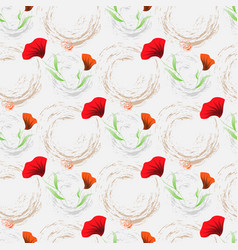floral background wallpaper seamless pattern with vector image