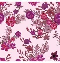 Floral elegant seamless pattern vector image