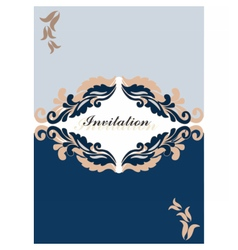 Floral ornament Invitation card vector