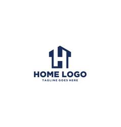 h or lh home logo design inspiration vector image