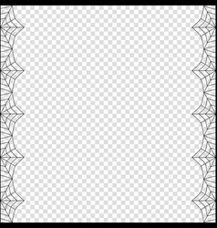 halloween double left and right black spiderweb vector image