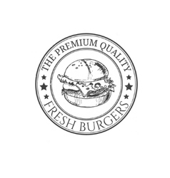 Hamburger and burger logotype and sticker vector image