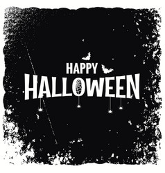 happy halloween banner design background vector image