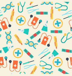 Healthcare seamless pattern vector