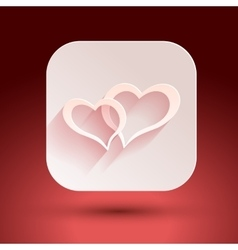 Hearts for Valentine s day on a pink background vector image