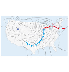 imaginary weather map united states vector image
