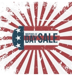 Independence day 4th july sale holiday label vector
