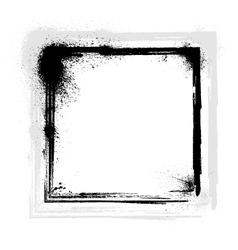 Ink blots frame vector