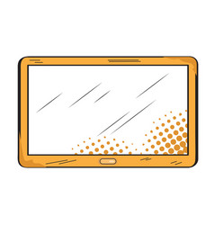 isolated retro tablet icon vector image
