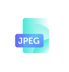 jpeg format icon gradient flat style bright vector image