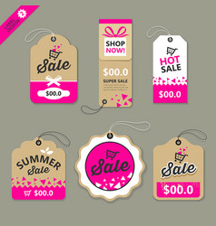 Label paper brown and pink concept vector