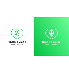 leaf logotype template positive and negative vector image