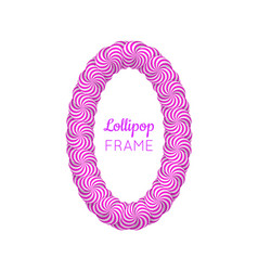 Lollipop violet frame vector