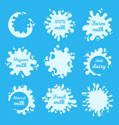 milk blots and drops vector image