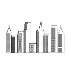 Modern city skyline town towers building vector