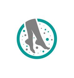 modern human foot logo vector image