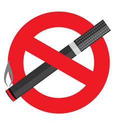 no smoking on white background vector image