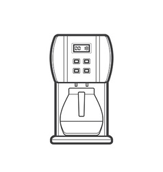 Outline coffee machine vector