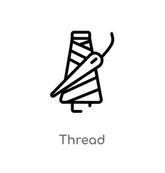 Outline thread icon isolated black simple line vector