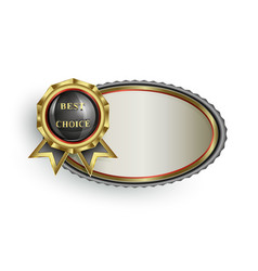 oval frame with a sign of the best choice vector image