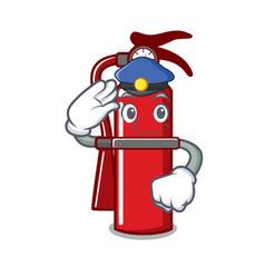 Police fire extinguisher character cartoon vector