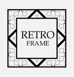 retro ornamental frame vector image