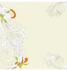 retro stylized background vector image