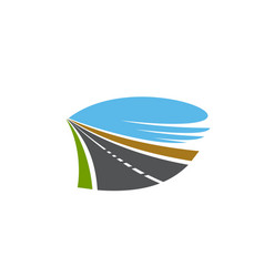 road pathway or transport two lane driveway sign vector image