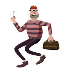 Robber icon cartoon style vector