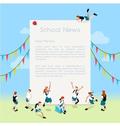 School letter template isometric vector