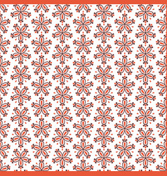 seamless floral pattern with red flowers on white vector image