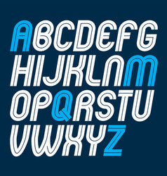 set of rounded bold capital alphabet letters made vector image