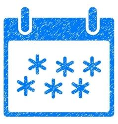 Snow Calendar Day Grainy Texture Icon vector image