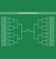Soccer baseball tournament bracket for your desig vector