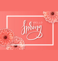 spring banner template with vector image