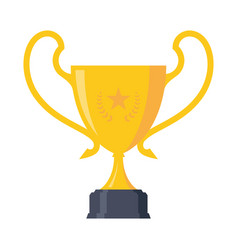 stars trophy award vector image