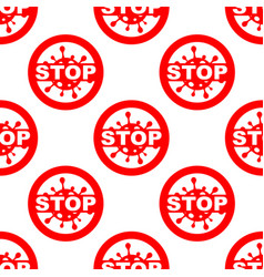 Stop virus bacteria seamless pattern flat vector